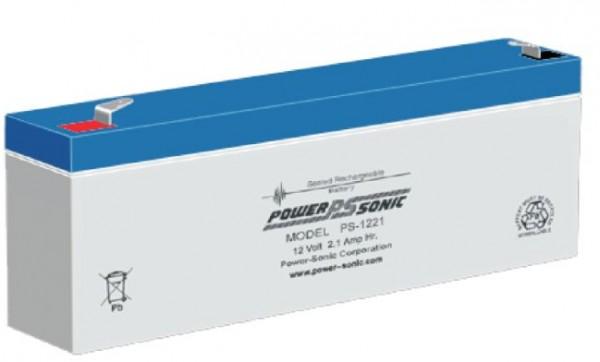 Powersonic 12V 2.1 Ah lood non spillable accu AGM VRLA PS 1221 VdS