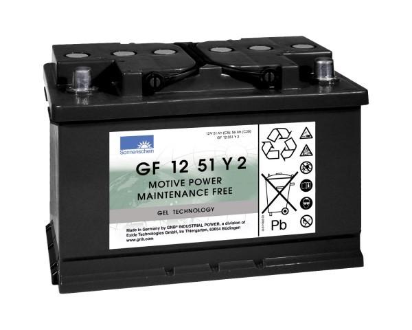 Exide Sonnenschein GF 12 051 Y 2 dryfit loodgel tractie accu 12V 56 Ah (5h) VRLA