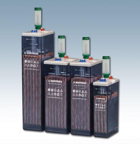 Hoppecke 6 OPzS zonnevermogen/zonnekracht 420 2V 420 Ah (C10) gesloten loodaccu