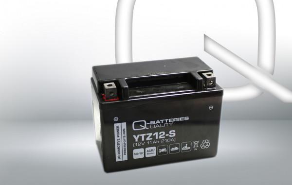 Q-Batteries Motorcycle Battery YTZ12-S 51121 AGM 12V 11 Ah 210A