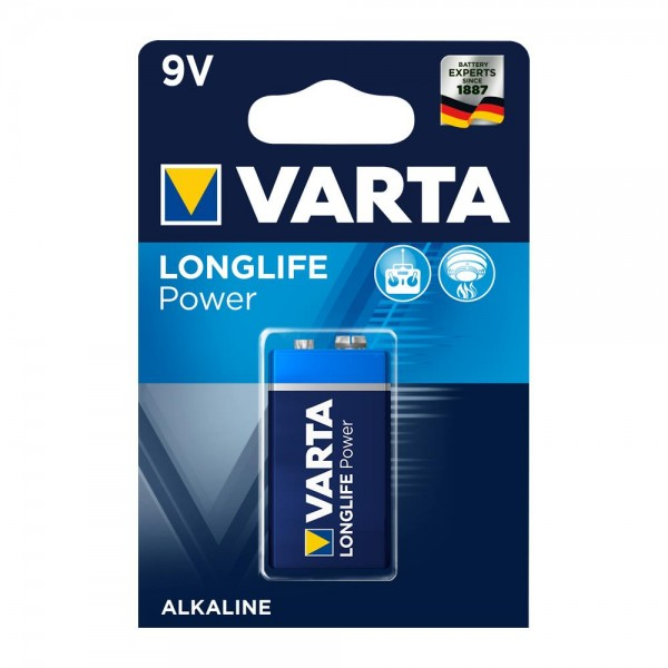 VARTA Longlife Power 9V Block Batterij 4922 6LR61 (1 Blister)