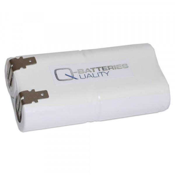 Batterij Pack 4,8V 1500mAh Stab NiCd L2x2 4xSub-C Hoge Temperatuurcellen Faston ±4,8 mm