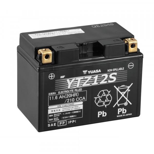Yuasa YTZ12S WC Motor accu Factory activated (YTZ12S) onderhoudsvrij