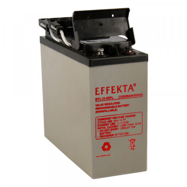 EFFEKTA BTL 12-55FL 12V 55 Ah front terminal lood accu/lood non spillable accu AGM VRLA