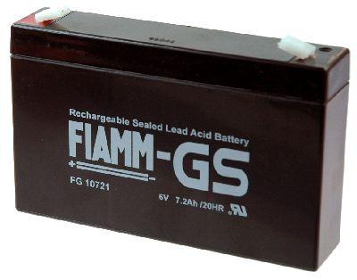 FIAMM FG10721 6V 7,2 Ah lood non spillable accu lood AGM