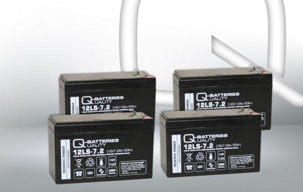 Vervangingsbatterij voor AEG Protect B. 1500/brandbatterij met VdS