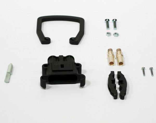REMA kan Euro Din 80A koppeling 25 mm² (handgreep, codering pin grijs, hoofdcontact, stamverlichting