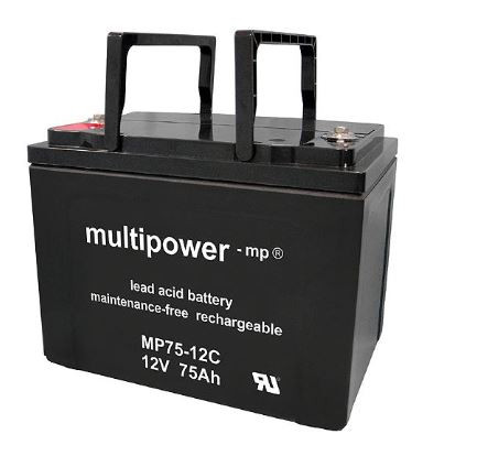 Multipower MP75-12C/12V 75 Ah lood batterij AGM cyclus type