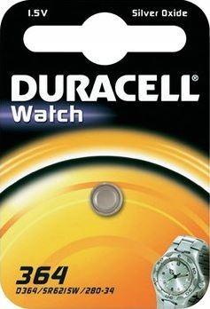 Duracell D 364 SR60 horloge knoopcel zilveroxide 20mAh 1.55V (1 blister)