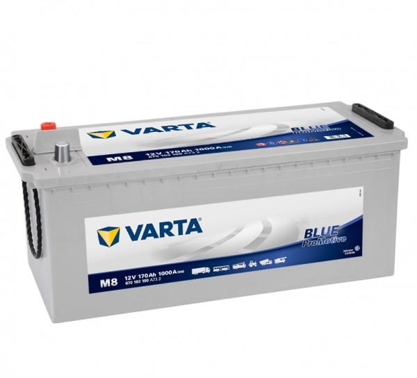 VARTA Promotive BLUE 670 103 100 A732 M8 12Volt 170 Ah 1000A/EN HD start accu