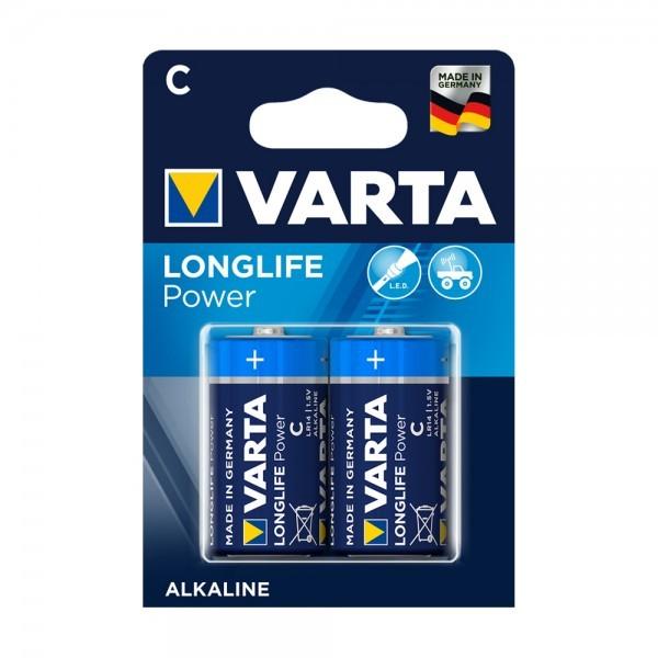 VARTA Longlife Power Baby C Batterij 4914 LR14 (2 blister)