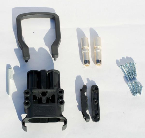 REMA kan Euro Din 320A koppeling 50 mm² (handgreep, codering pin grijs, hoofdcontact, stamverlichtin