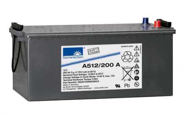 Exide sonnenschein A512/200 A 12V 200 Ah dryfit loodgel accu VRLA