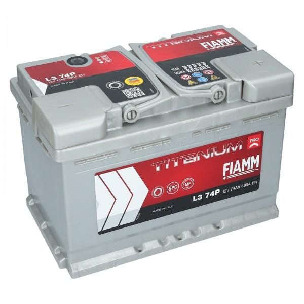 FIAMM L3 74P Titanium Pro 12V 74Ah CCA 680EN Start accu