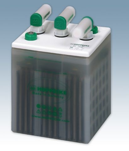 Hoppecke grid | power VH 6-100 OGi blok 6V 100/6V 128 Ah (C10) gesloten lood – Blokbatterij met vloe
