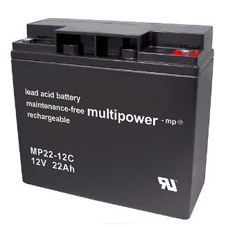 Multipower MP22-12C/12V 22 Ah lood batterij cyclus type