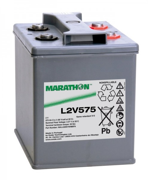 Exide Marathon UL2V575 2V 575 Ah AGM loodaccu VRLA