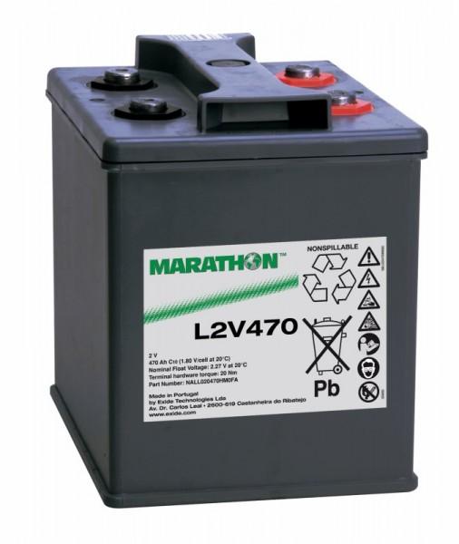 Exide Marathon L2V470 2V 470 Ah AGM loodaccu VRLA