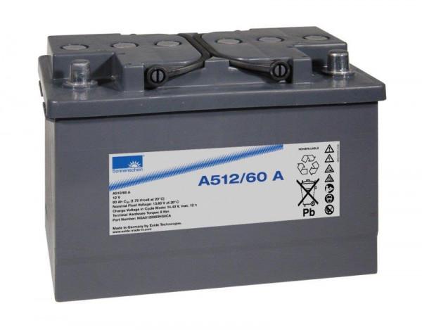 Exide sonnenschein A512/60 A 12V 60 Ah dryfit loodgel accu VRLA