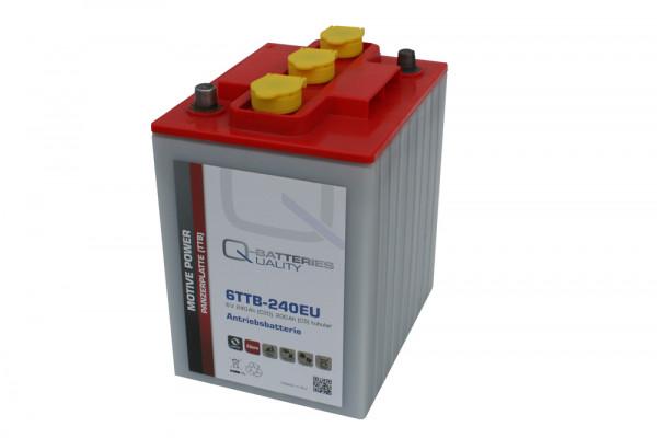 Q-Batteries 6TTB-240EU 6V 240 Ah (C20) gesloten blok batterij, positieve buisplaat