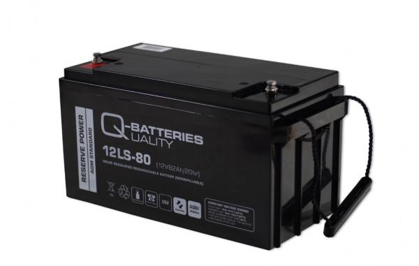Q-Batteries 12LS-80/12V – 82 Ah loodaccu Standaard type AGM – 10 jaar type
