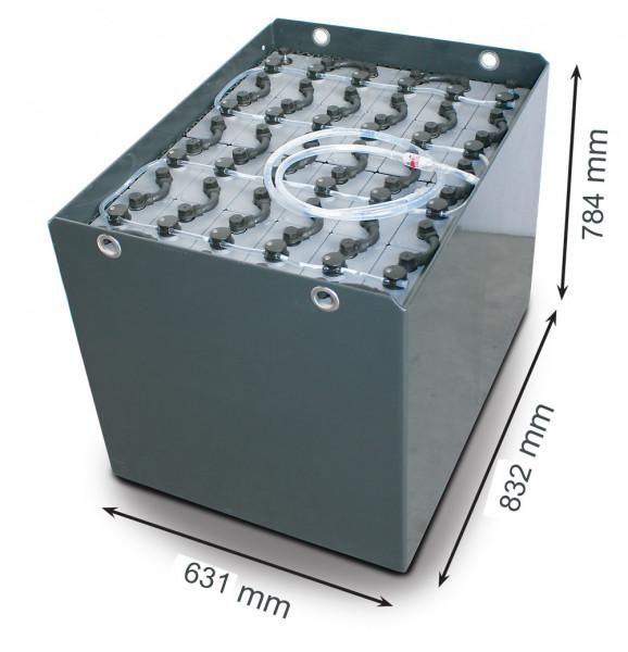 Q-Batteries 48V vorkheftruck accu 5 PzS 700 Ah DIN A (832 * 631 * 784 mm L/B/H) caja de acero 570170