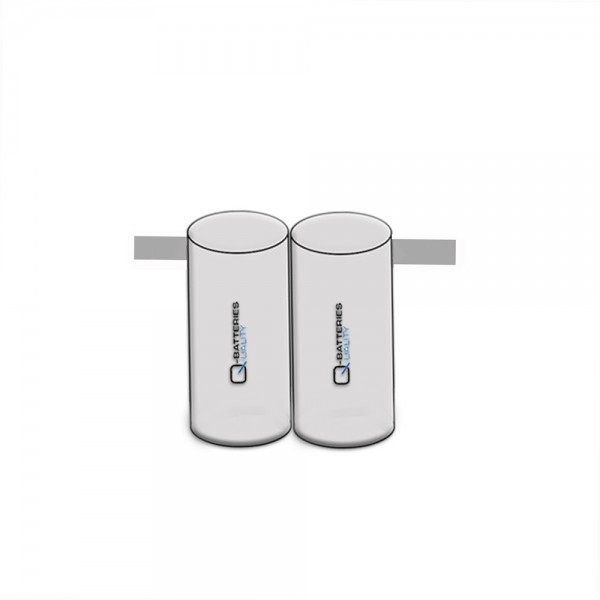 Batterij pack 2,4V 4000mAh serie NiCd F2x1 D hoge temperatuur cellen/solder vlag