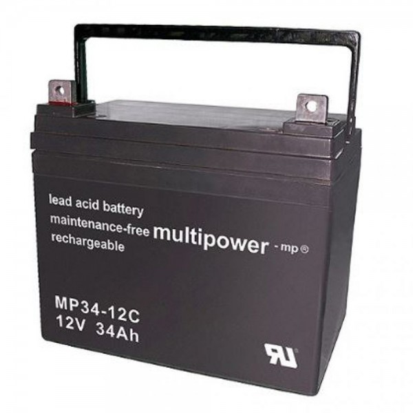 Multipower MP34-12C/12V 34 Ah lood batterij cyclus type