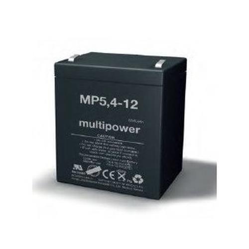 Multipower MP5,4-12/12V 5,4 Ah lood batterij AGM