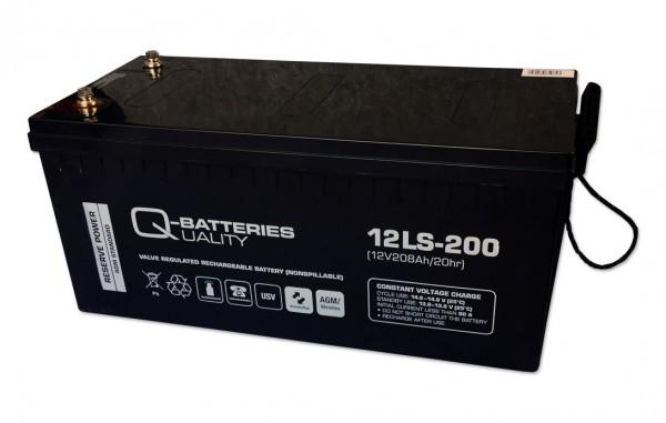 Q-Batteries 12LS-200/12V – 208 Ah loodaccu Standaard type AGM VRLA 10 jaar type
