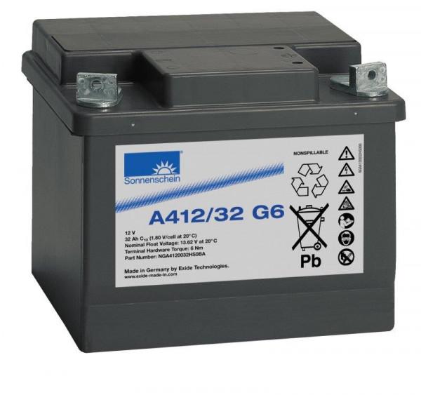 Exide sonnenschein A412/32 G6 12V 32 Ah dryfit loodgel accu VRLA