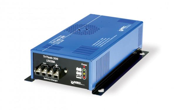 MEC TriTask-300 hoge kwaliteit tafellader 12V 15A voor nonwoven (AGM), natte en gel batterijen