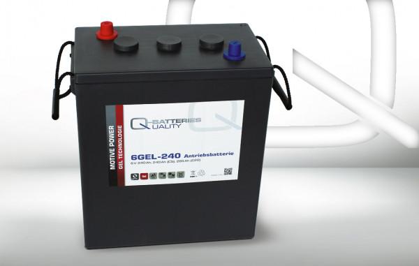 Q-Batteries 6GEL-240 tractie batterij 6V 240 Ah (5h) 292 Ah(20h) onderhoudsvrije gel batterij VRLA