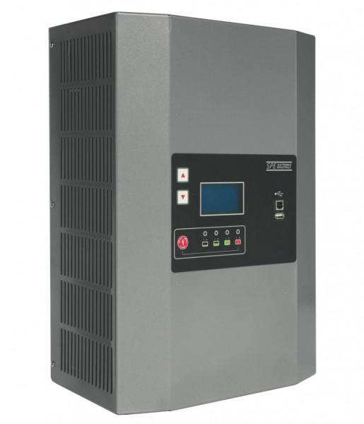 Q-Batteries energiebesparende hoogfrequente lader 24V 60A door S.P.E. Charger GREEN2 zonder batterij