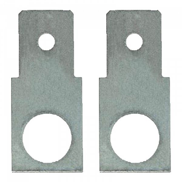 Adapter M5 naar Faston F2 platte connector 6,3 mm recht (1 paar)