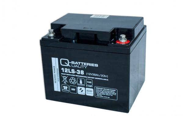 Q-Batteries 12LS-38 12V 38 Ah lood vlies batterij/AGM VRLA met VdS