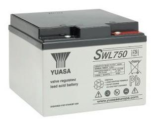 Yuasa SWL750 22.9 Ah (10h) met 750 Watt 12V lood accu SWL serie AGM accu