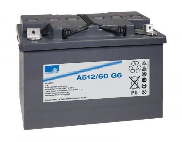 Exide sonnenschein A512/60 G6 12V 60 Ah dryfit loodgel accu VRLA