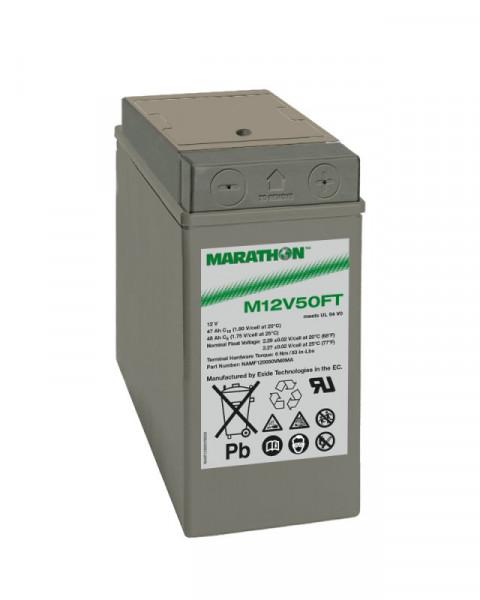 Exide Marathon M12V50FT 12V 47 Ah UL94-V0 frontterminal AGM lood non spillable accu VRLA