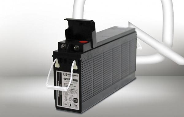 Q-Batteries 12LFT-105 12V 108 Ah AGM frontterminal lood accu 10 jaar type VRLA