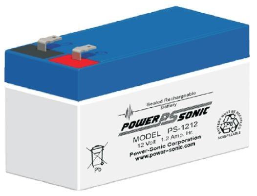 Powersonic 12V 1.2 Ah lood non spillable accu AGM VRLA PS 1212 VdS