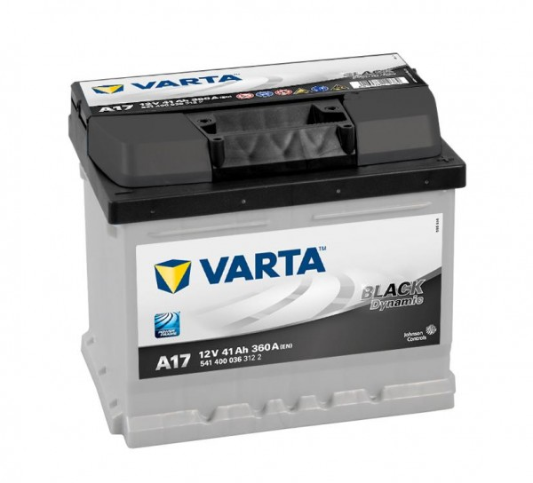 VARTA BLACK Dynamic 541 400 036 3122 A17 12Volt 41 Ah 360A/EN start accu