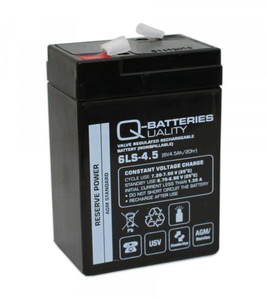 Q-Batteries 6LS-4.5 6V 4,5 Ah Lead non spillable accu/AGM VRLA