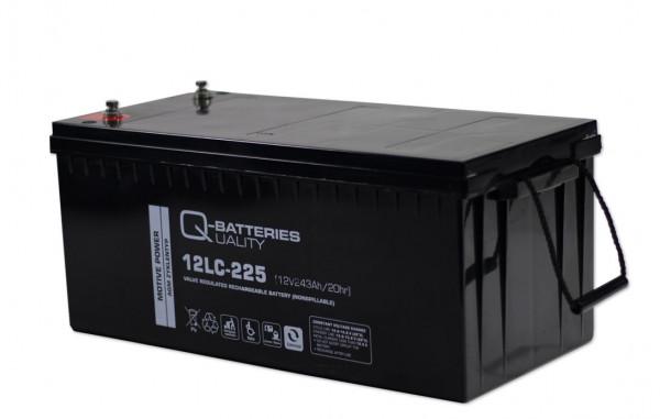 Q-Batteries 12LC-225/12V – 243 Ah lood accu cyclus type AGM – Deep Cycle VRLA