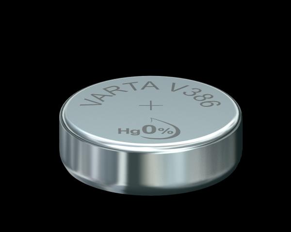 VARTA Watch V386 SR43 1,55 V Watch batterij High Drain 115mAh (1 blister)