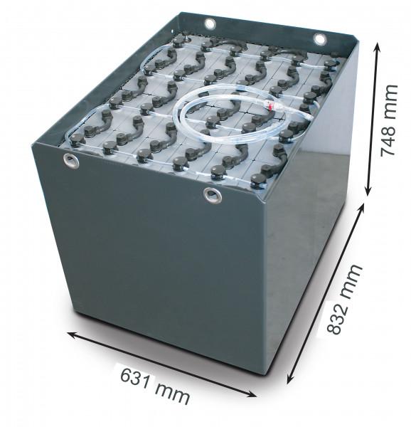 Q-Batteries 48V vorkheftruck accu 5 PzS 775 Ah DIN A (832 * 631 * 784 mm L/B/H) caja de acero 570170