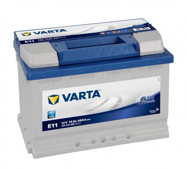 VARTA BLUE Dynamic 574 012 068 3132 E11 12Volt 74 Ah 680A/EN start accu