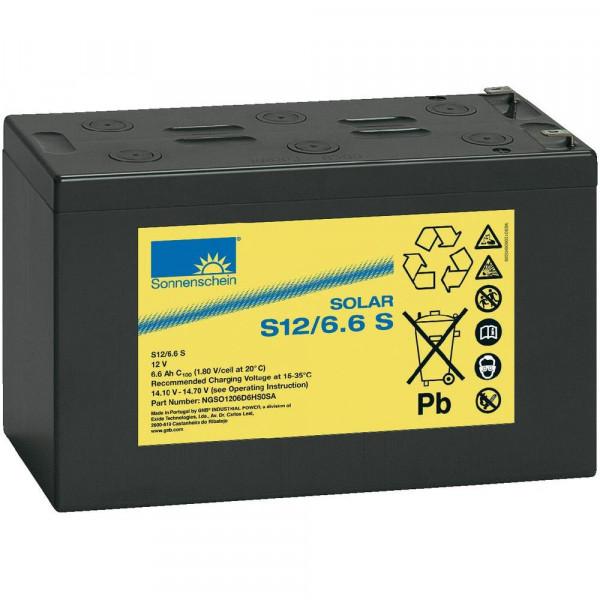 Exide Sonnenschein Solar S12/6,6 S Lead Gel Battery 12V 6,6 Ah