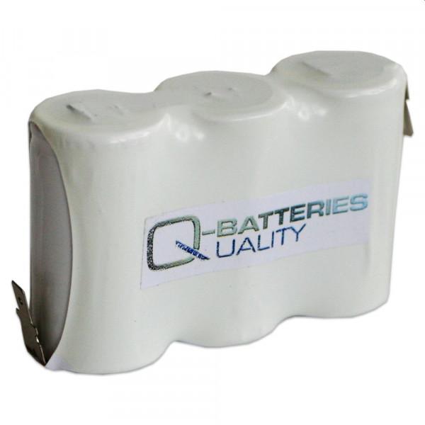 Batterij pack 3,6V 1500mAh serie NiCd F3x1 3xSub-C High-temperature cellen Faston +6,3/-4,8 mm
