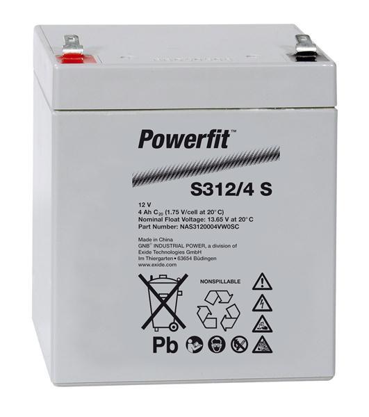 Exide Powerfit S312/4 S 12V 4 Ah dryfit lood accu AGM